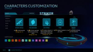 Striker's Help Screen