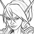 Sketch Blood Elf Priest Portrait.png