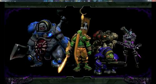 5 Hero Team Group Photo of Murky, Samuro, Stitches, Sylavans and Warfield's Blizzard Dota Models.jpg