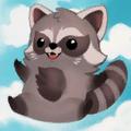 Cute TimTim Raccoon Portrait.png