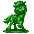 Cute Green Army Horse Spray.png