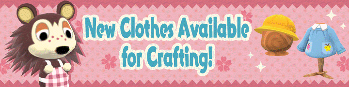 New Clothing Added For Crafting Apr 02 2018 Animal Crossing