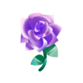 Gothic Purple Roses.png