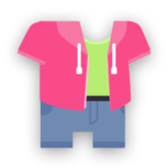 Clothes hoodie pink full.png