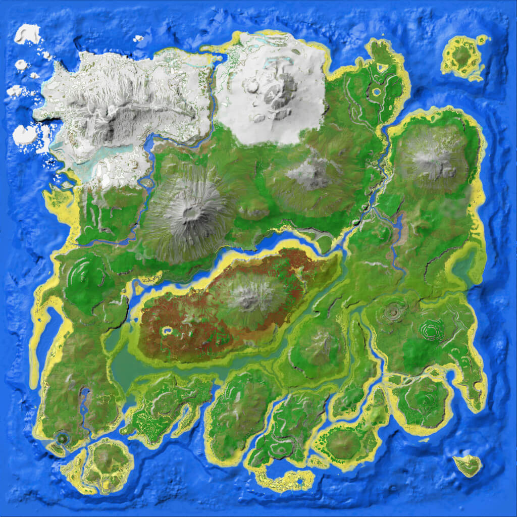 Map Of Ark Resource Map (The Island)   Official ARK: Survival Evolved Wiki