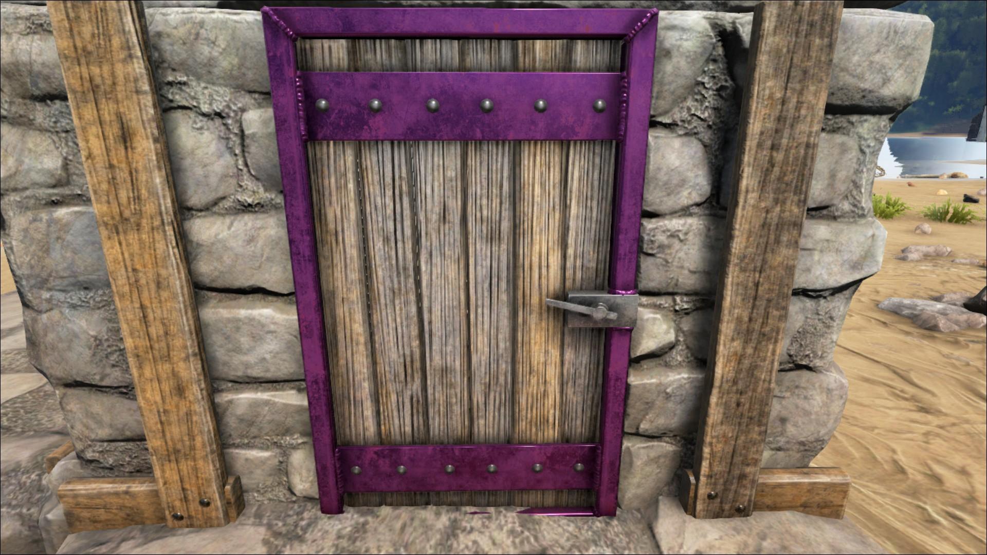 Reinforced Wooden Door Official Ark Survival Evolved Wiki