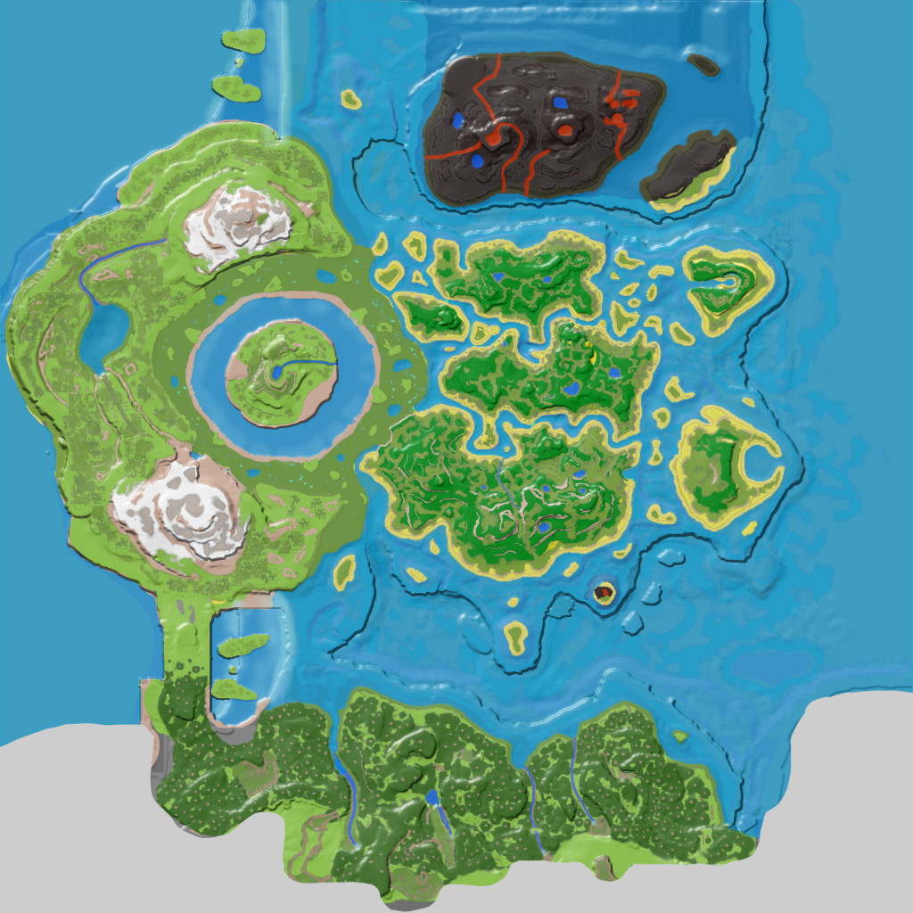 carte the center ark Resource Map (The Center)   Official ARK: Survival Evolved Wiki