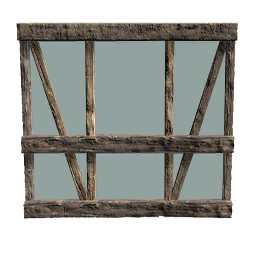 Lumber Glass Wall Primitive Plus Official Ark Survival