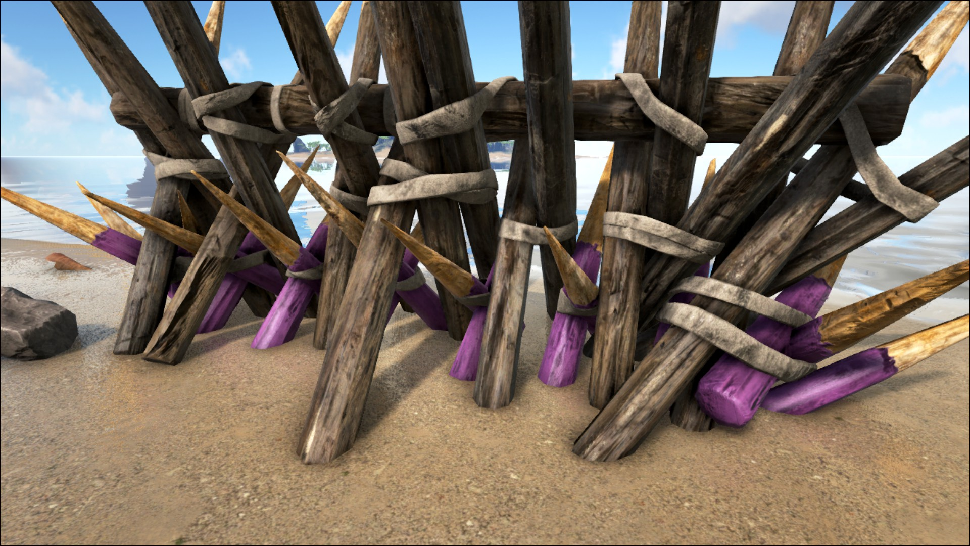 Wooden Spike Wall - Official ARK: Survival Evolved Wiki
