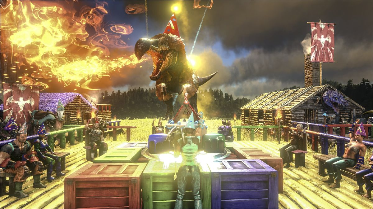 Ark Survival Evolved Christmas Event.Ark Awesome Anniversary Official Ark Survival Evolved Wiki