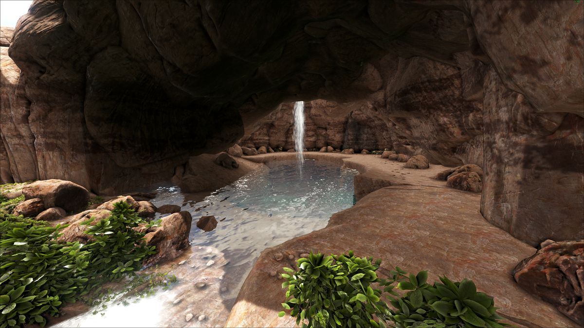 Central Canyon Cave 3 Ragnarok Official Ark Survival