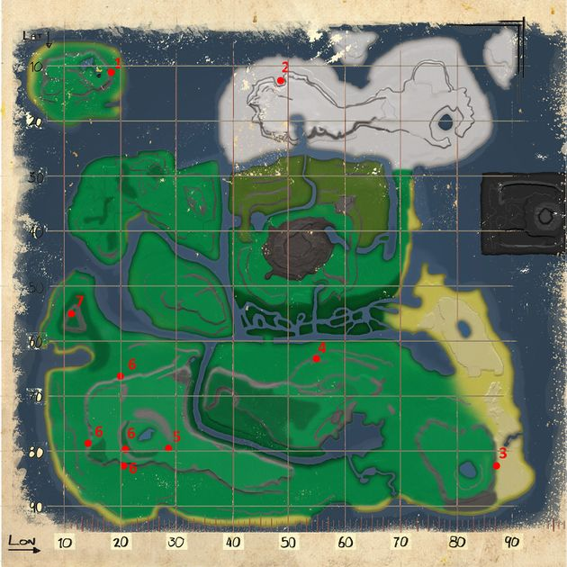 Mod:Resource Map (The Volcano) - Official ARK: Survival Evolved Wiki