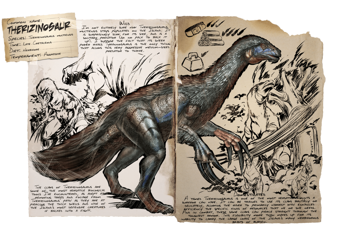 Therizinosaur - Official ARK: Survival Evolved Wiki