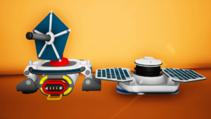 The solar panels you can craft in your backpack (left) and on the printer (right).