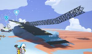 A crashed, but usable solar array.