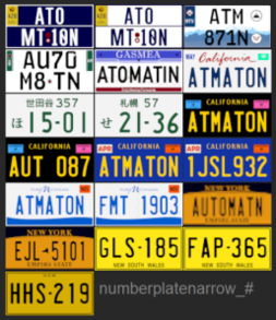 North American spec plates, 1024×2048 px textures