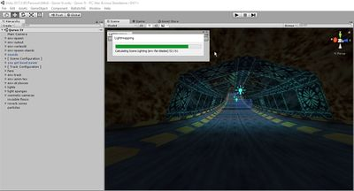 The lightmapping progress window