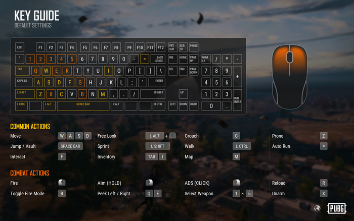 pubg console controller layout