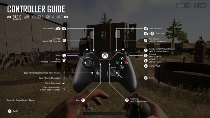 pubg pc keyboard controls settings