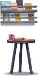 Wall Shelves and Tea Table.png