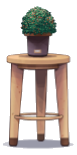 Wooden Stool and Plant Deco.png
