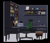 Modern Shelved Desk.png