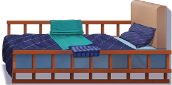 Patterned Single Bed.png