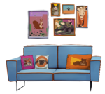 Movie Poster and Fabric Sofa.png