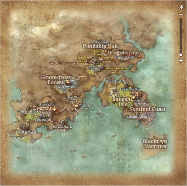 Blades In The Dark World Map on