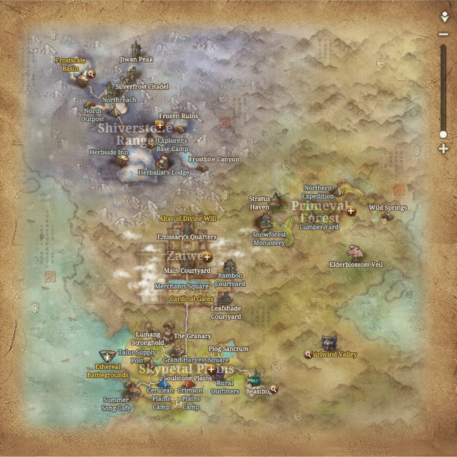 Map of Silverfrost Mountains