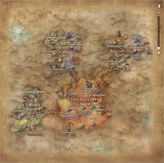 Map of the Cinderlands