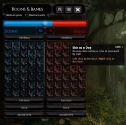 Banes & Boons interface
