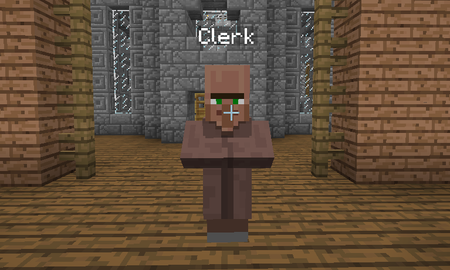 This is the Clerk. You will find him in the center of the Global Market to sell your items to.