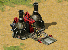 The Soviets reused their old Refinery to limit down ore from their Ore Collector.