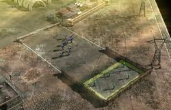 Blue Team Zone Troopers standing next to training targets