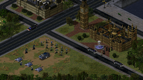 Allied forces stationed near the Parliament House