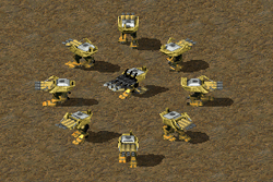 Mobile (circle) and deployed (center) Juggernauts
