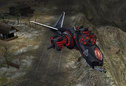 A Venom patrol craft with a signature generator
