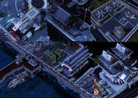 These strategic objectives must be destroyed (from left to right): Tenzai Robotics, Nagama Dojo, Psionic Decimators and Nanoswarm Hive, Shirada Docks, Toyama High Command