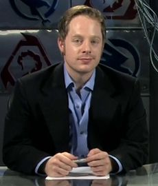 Feasel in the Battlecast Primetime studio, 2009