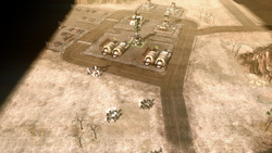 GDI forces retaking an abandoned outpost