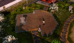 Emperor Yoshiro, inside his personal garden