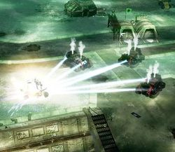 Enlightened firing from supercharged particle beam weapons from within Reckoners