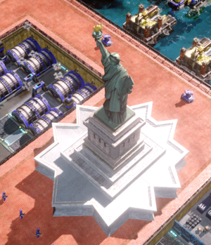 Destroying the Statue of Liberty would shatter the will of the Allied Nations