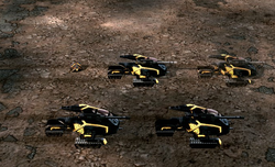 A disruption pod cloaking Scorpion tanks