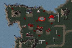 Ruined Soviet base in the northwest