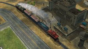 Train unloading GLA troops