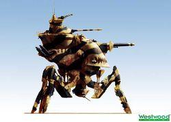 Red Alert 2 version, desert camouflage render