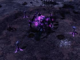 The Eradicator hexapod advancing through the city
