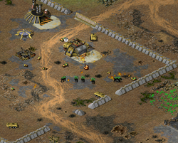 Tiberium creatures wreaking havoc in the GDI outpost
